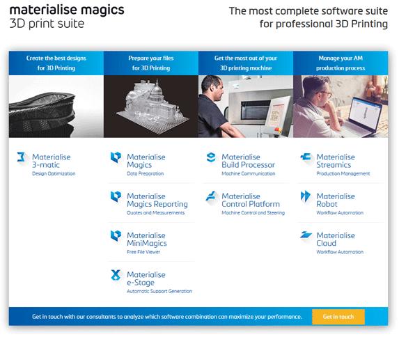 Materialise introduces Magics 3D Print suite