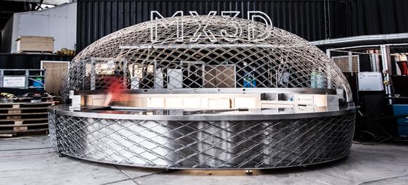 MX3D opens Cucuyo – the metal 3D printed café