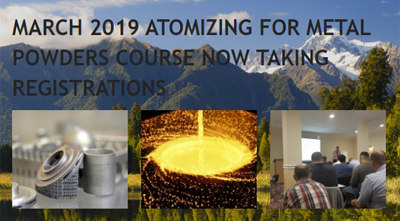 Atomization for Metal Powders Course