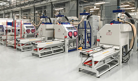 Guyson installs four blast systems at Material Solutions' new AM facility