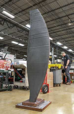 Large-scale turbine blade demonstrates potential of Wire-laser Additive Manufacturing