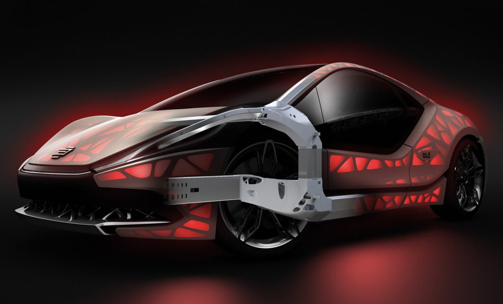 Metal AM in the automotive industry: New vehicle structures, series components for the luxury market and beyond