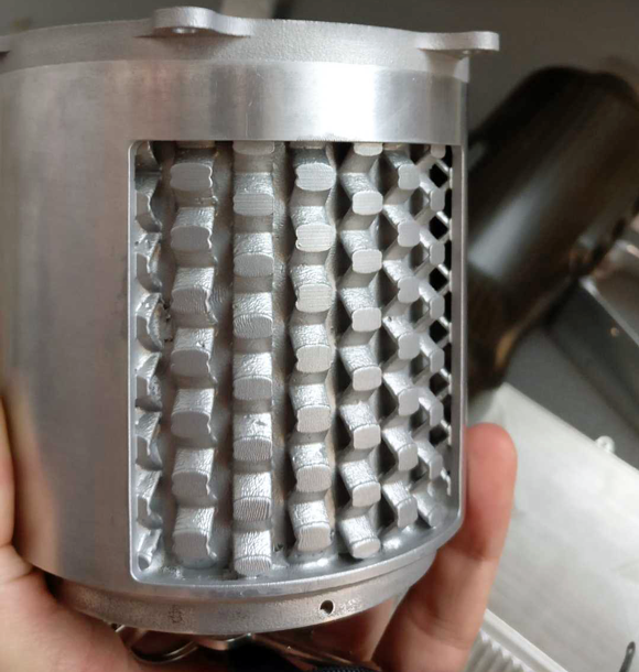 Integrated cooling in electric motor housing developed using metal Additive Manufacturing
