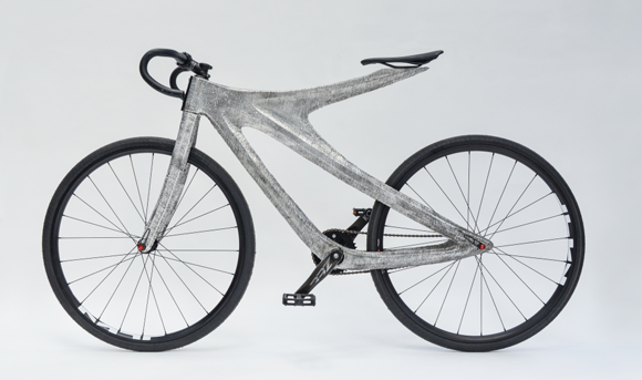 MX3D builds aluminium bicycle frame using Wire-Arc Additive Manufacturing