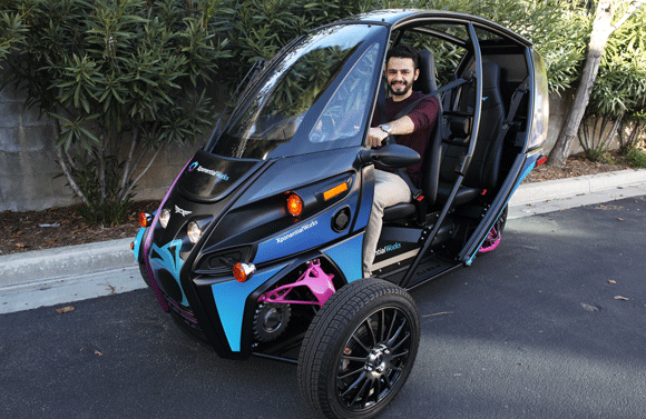 Significant weight savings in Arcimoto electric vehicle through metal Additive Manufacturing
